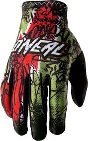 Oneal Mx Glove Size Chart Oneal Racing Jump Villain Gloves O Neal Matrix Vandal