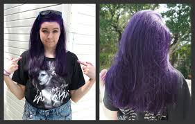 How To Dye Your Hair Purple No Bleach Youtube Black Black And Red Hair On The Bottom L