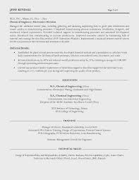 Director Of Engineering Resume Cool Chemical Engineer Resume Present Adadrivered