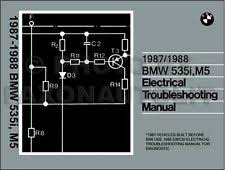 bmw m5 manuals literature 1987 1988 bmw 535i and m5 electrical troubleshooting manual wiring diagram 535 i