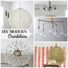 diy modern chandeliers via remodelaholic com