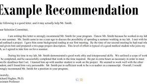 Recommendation Letter Template Recommendation Letter Sample