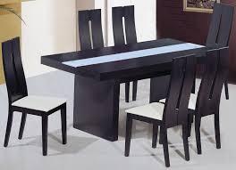 blue dining room set. Modern Dining Set Table With Unique Design : Charming Square Black Wooden Blue Room