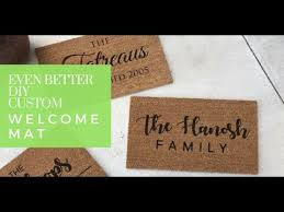 Image Coir Doormat Even Better Diy Customized Welcome Mat Youtube Even Better Diy Customized Welcome Mat Youtube
