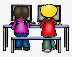 Kids On Computers Clipart - Computer Laboratory Clip Art, HD Png Download -  kindpng