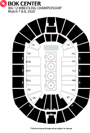 Big 12 Championship Seating Chart Events Bok Center