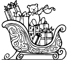 Christmas Coloring Pages Presents With Download Printable Santa Or