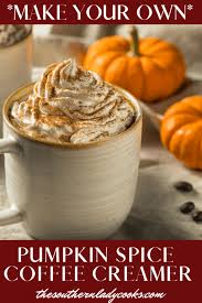 This particular recipe uses powdered coffee creamer as a base. Pumpkin Spice Coffee Creamer The Southern Lady Cooks
