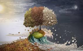 seasons surreal art hd desktop wallpaper high definition