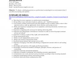 Lovely Cosmetology Skills And Abilities For Resume Fetching Essayeur