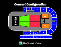 Pace Center Seating Chart Northwest Arena Seating Charts
