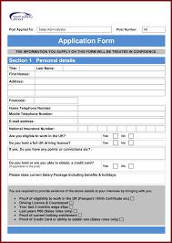 Resume Template 9 Job Application Form Word Format Sendletters