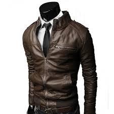 slim fit stylish brown custom leather biker motorcycle jacket for men jk3