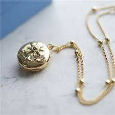 sun moon stars gold plated pendants