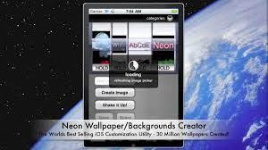 Neon Wallpaper Maker App - Demo - YouTube