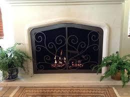cleaning glass fireplace doors door w custom scroll design cleaning wood burning stove glass door