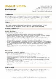 Skills For Retail Associate Retail Associate Resume Samples Qwikresume