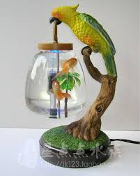 Amazing Table Lamp Fish Tank Mini Fish Tank Goldfish Bowl Decoration Led. Too Small  Looking For Fish But I Want This For My Marimo.