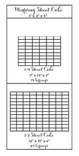 Wedding Sheet Cake Cake Sheet Serving Chart Wedding Sheet