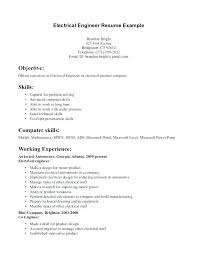 Skills For Engineering Resumes Entry Level Electrical Engineering Resume Electrical Engineering