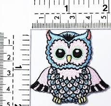 Owl Birthday Applique Design Amazon Com Blue Mini Owl Bird Night Bird Nature Wildlife In