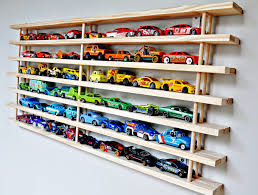 ... Easy Wall Garage For Cars Wooden Material Cars Display Rectangular  Shape Seven Tiered White Wall Wall Fabricated Toy ...