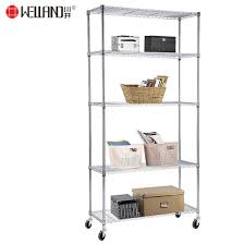 adjule 5 tier heavy duty chrome steel wire shelving rack shelf cart 900x350 pictures photos