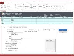 Free Employee Database Template In Excel Hr Employee Ms Access Database Template Hr Employee Ms
