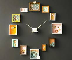 unique wall clocks india little cute picture frames can make