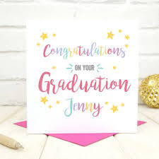 Personalised Congratulations On Your Graduation Card By Chi Chi Moi