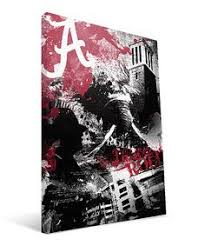 >alabama crimson tide canvas wall art collegiate licensed by  another great find on alabama crimson tide spirit wrapped canvas