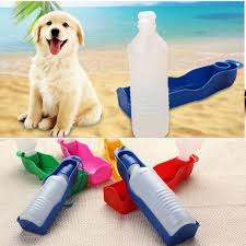 250ml 500ml portable dog water bottle pets outdoor travel kettle feeder water drinking bowl