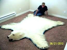 bear rug for polar real white with head rugs faux