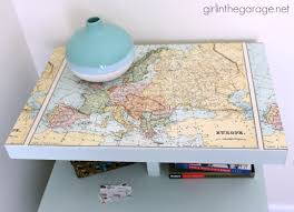 decoupage ideas for furniture. Decoupaged Map Table: Chalk Paint, Mod Podge, And Maps. \ Decoupage Ideas For Furniture