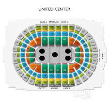 Chicago Bulls Stadium Seating Chart 10 Cogent United Center Seating Bulls Game