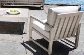 cast aluminum patio furniture venice conversation set with a modern teak design in toronto