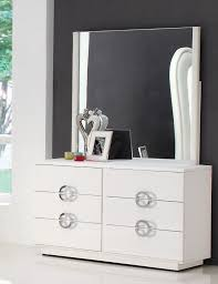 modern makeup dresser with mirror painted with white color and