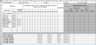 daycare sign in and out sheet kiosk sign in out sheet excel