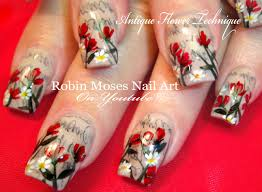 Antique Newspaper Nails with Flowers   Newsprint Sharpie Hack Nail ...