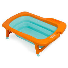out of stock deluxe folding baby bath tub orange mint