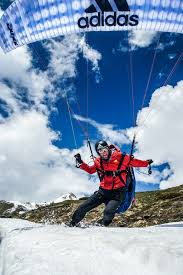 adidas outdoor athlete jean baptiste chandelier produced a new paragliding named touch showing his skills with the wing in an amazing outdoor scenery