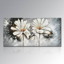 framed hand painted white and red flower oil painting on canvas abstract floral wall art home on canvas floral wall art with framed hand painted white and red flower oil painting on canvas