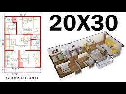 20 30 north face house plan map naksha