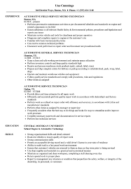 Automotive Technician Resume Automotive Service Technician Resume Samples Velvet Jobs 55