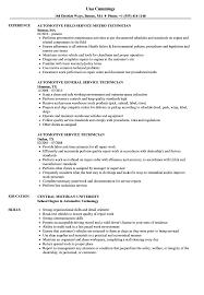 Automotive Technician Resume Automotive Service Technician Resume Samples Velvet Jobs 55