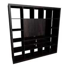 awesome black ikea expedit bookcase plus tv storage unit for home furniture  ideas