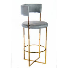 Statements by J 'Carrie' Grey/Gold-tone Faux-leather/Metal Bar Stool (Gold)  (Faux Leather)