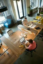 awesome open office plan coordinated. itu0027s awesome open office plan coordinated with real wood reception desk favorite places u0026 spaces pinterest desks and cubicle