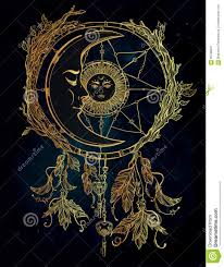 What Is A Dream Catchers Purpose Dream Catcher Adorned With Sun And Moon Inside Stock Illustration 65