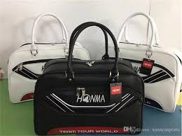 2019 leather golf boston bag honma golf clothes bag black white golf clothing bags from sunseasports 55 28 dhgate com